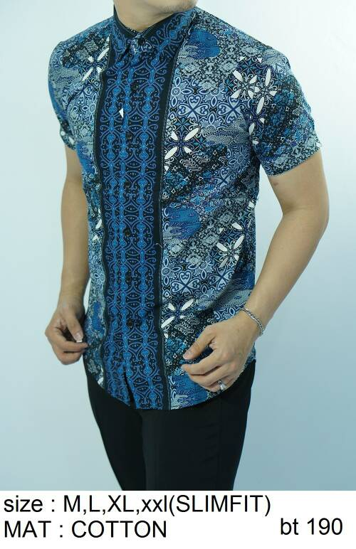 Batik Slim Fit - Kualitas Mall Elite!! Kemeja Slimfit Keren BT190