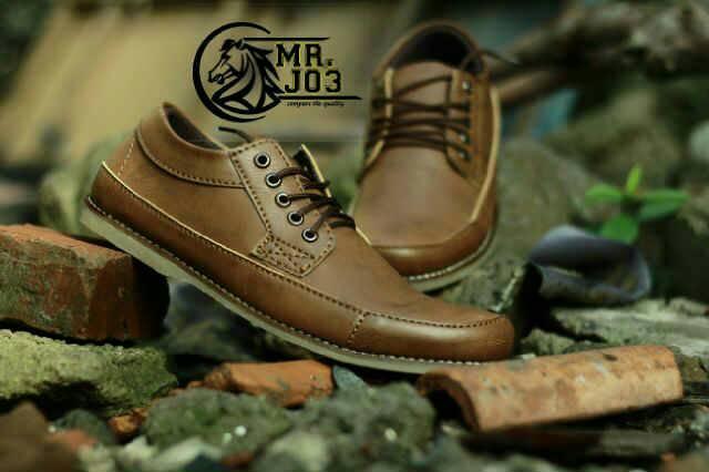 Jual Sepatu Mr. Joe Casual Brown Coklat Murah