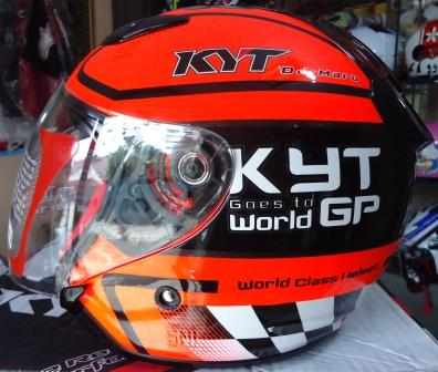 Jual Helm KYT DJMaru Motif Seri GP DJ Maru Half Face Black
