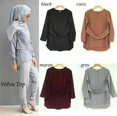 volva top mat katun fit L  (blouse/atasan/top/hijab)