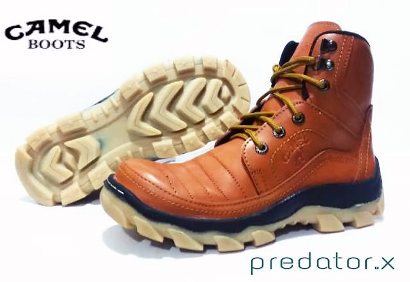 Jual Sepatu Safety Camel Predator X bahan kulit warna Coklat ... 2dc21d4a5f