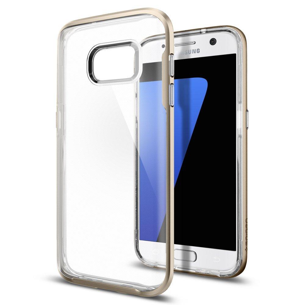 Spigen Galaxy S7 Edge Case Neo Hybrid Crystal Champagne Gold 555cs2002