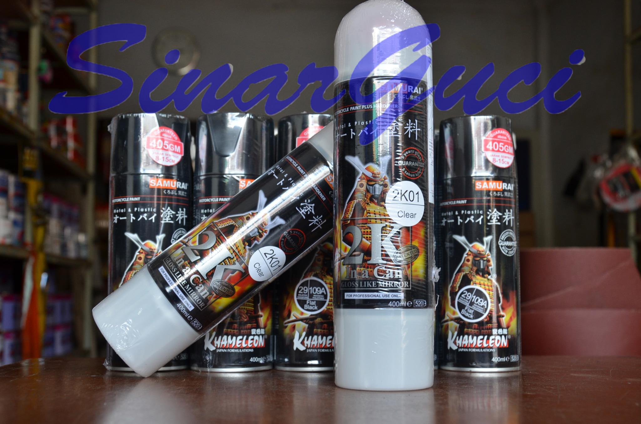 Jual Cat Semprot Samurai Pilox Pylox Paint Spray Pernis Clear 2k Can Gun Aerosol Sinar Guci Tokopedia