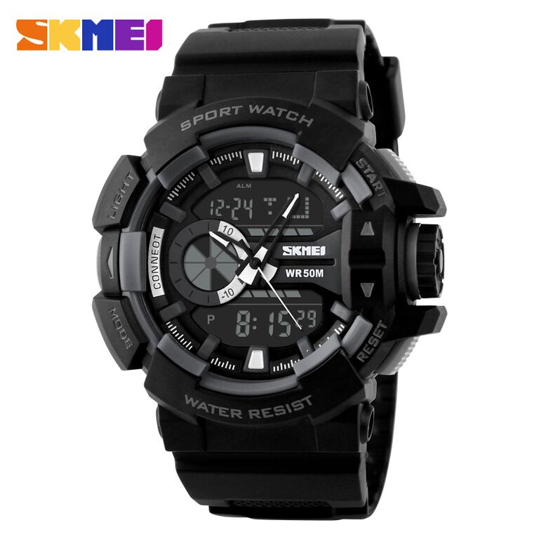 Jam / SKMEI Casio Men Sport LED Watch Water Resistant 50m - AD1117
