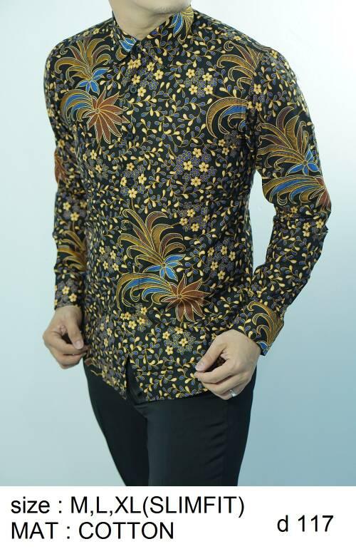 Batik Slim Fit - Kualitas Mall Elite!! Kemeja Slimfit Keren D117