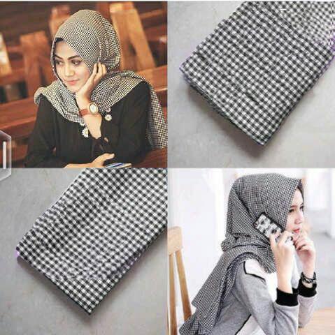 H - pashmina monochrome | pasmina | hijab | kerudung hijab