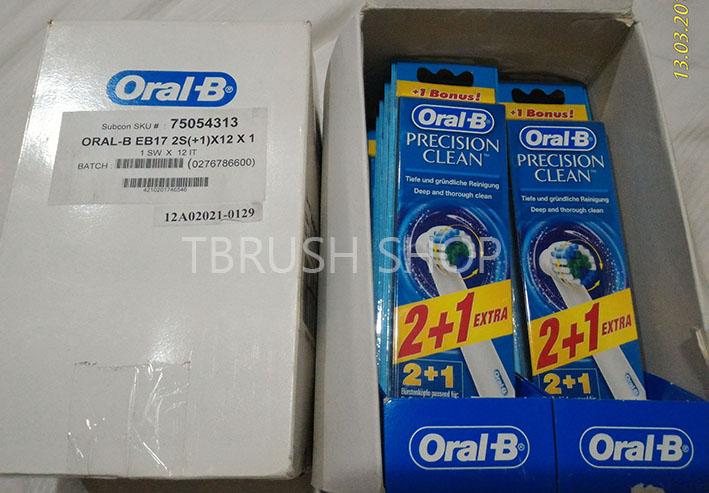 Jual Kepala Sikat Gigi Elektrik Oral B Braun Original 1 pack isi 3 ... 0dfd0f4efa