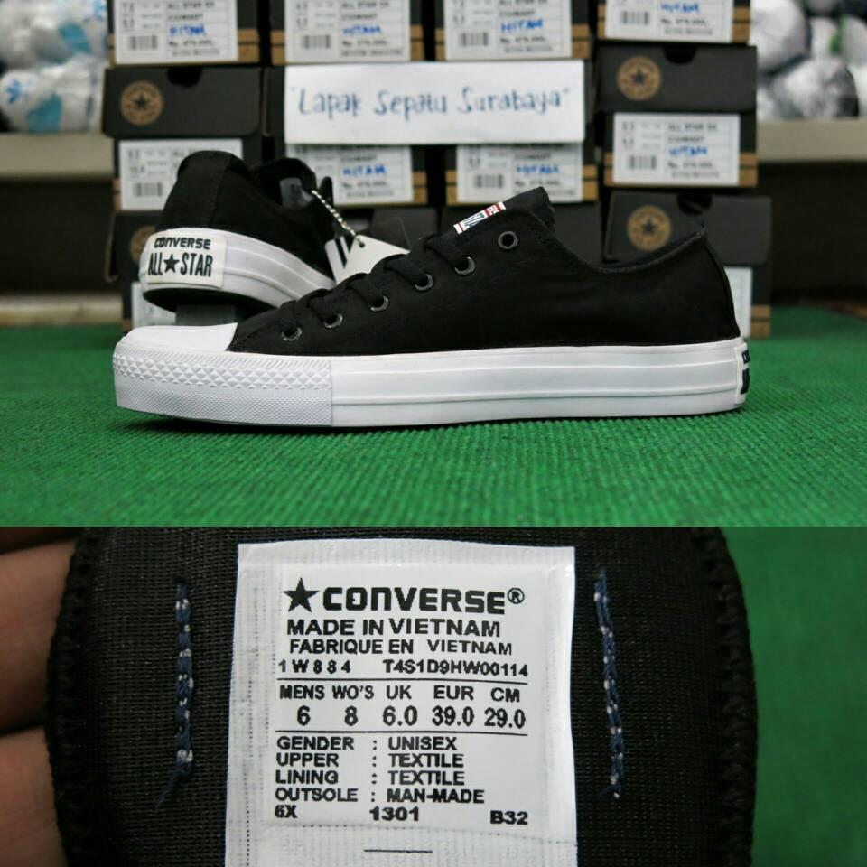 Jual Sepatu Converse Chuck Taylor Grade Ori Vietnam   Hitam - Lapak Sepatu  Sby  ecd9483e62