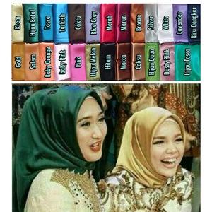 Kerudung Jilbab Hijab Segiempat Satin