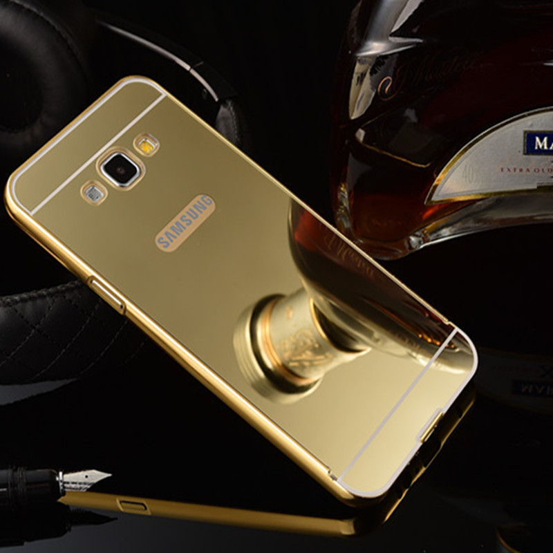 ... Aluminium Bumper Backcase Mirror Pc For Samsung Galaxy E5 Rose Source E5 Rose Gold Free Source