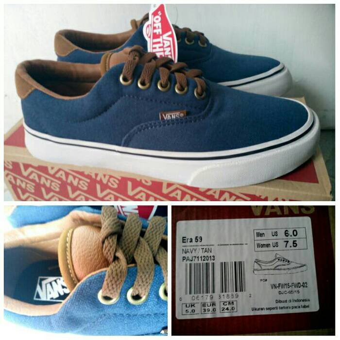 89012e55d5 Detail Produk Sepatu Vans Pria California Blue Navy Dongker