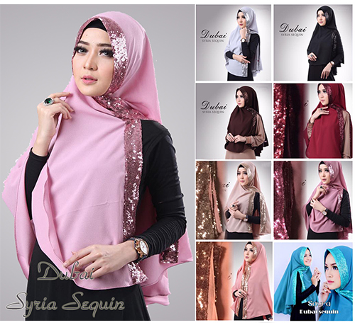 kerudung/hijab/jilbab khimar Dubai Sequin Diamond