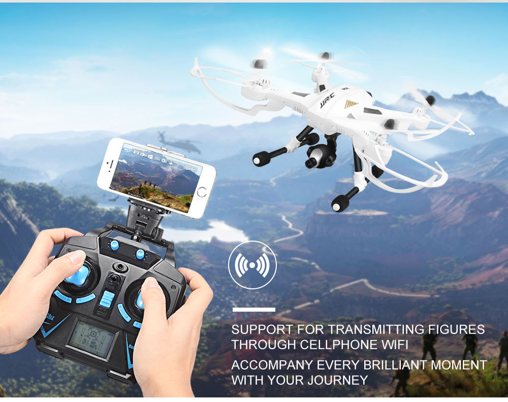 Jual Big Drone Jjrc H26w Wifi Fpv 720p Camera Cx Syma Dji Killer With One Key Return Rtf 24ghz Rc Quadcopter Hijau Dronepedia Tokopedia