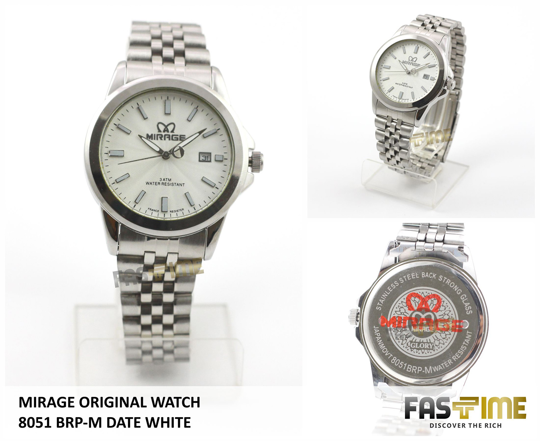 Mirage Jam Tangan Pria Original Mg7880 Brp M Date Black Daftar Wanita Japan Technology 7380 L White Jual 8051 Fastime