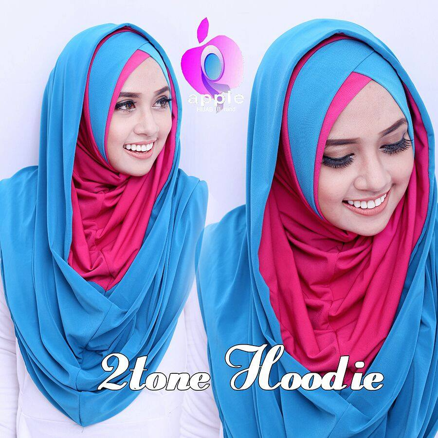 2TONE LONG HOODIE by Apple Hijab