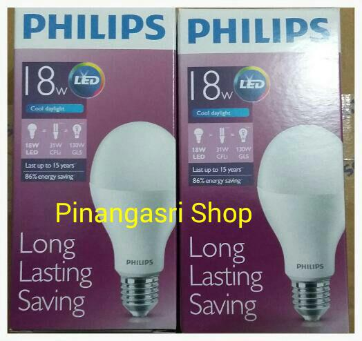 Jual Lampu LED Philips 18 Watt Bohlam 18w / Philip Putih