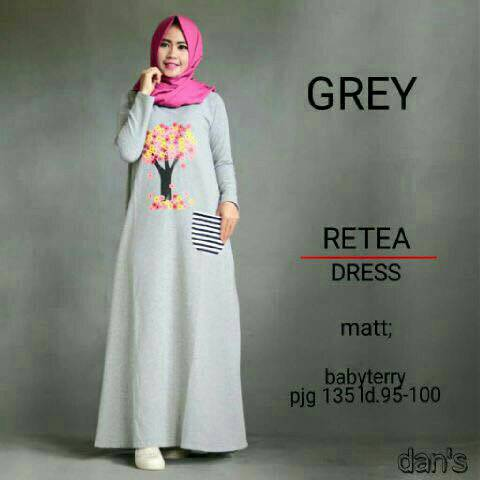 Dress Retea / gamis / maxi / hijab best seller / hijab ootd / HOTD
