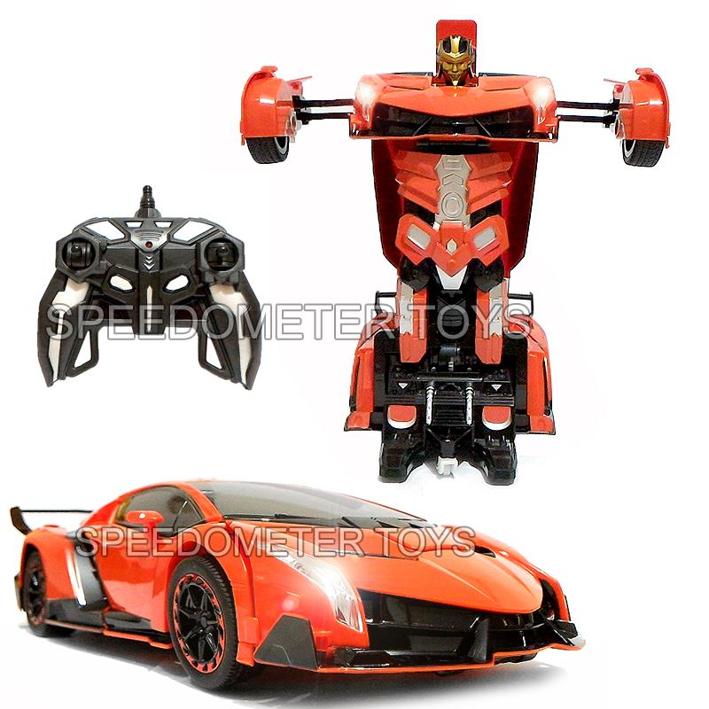 Jual Rc Transfomers Frekuensi 2 4g Mainan Anak Mobil Robot Remote