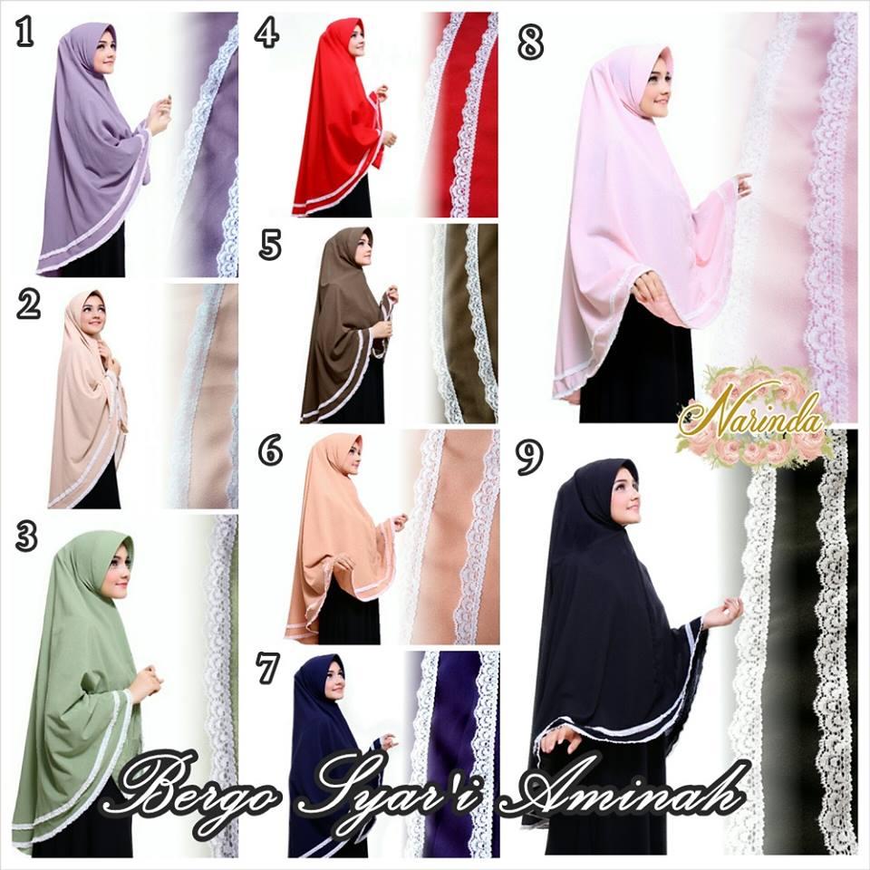 Khimar / bergo / hijab / jilbab Syarii Aminah Diamond