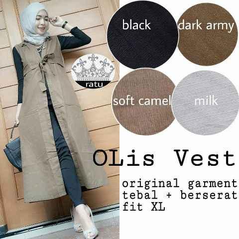 Olis vest katun  (blouse/atasan/top/hijab)