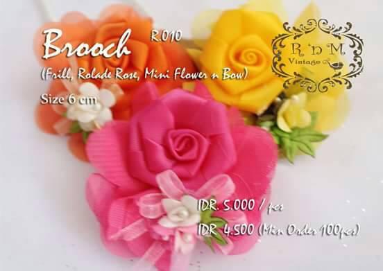 bros jilbab aksesoris brooch hijab accessories bunga pastel murah