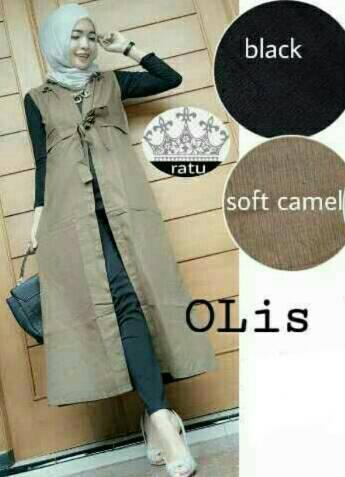 Long cardi / Long vest / Vest hijab / Cardigan