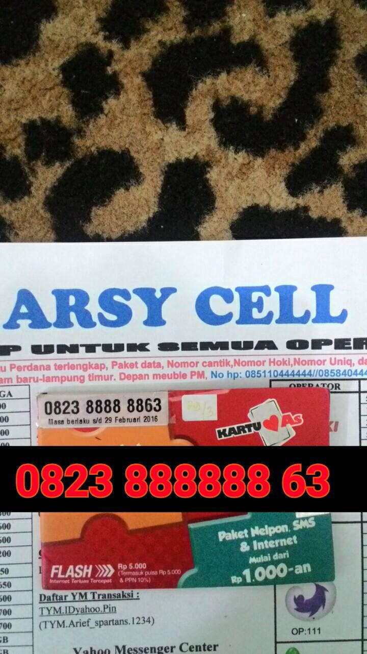 Jual Nomor Cantik As Hexa 8 Arsy Cell Tokopedia Telkomsel Kartu 0852 8888 1225 Spec Dan