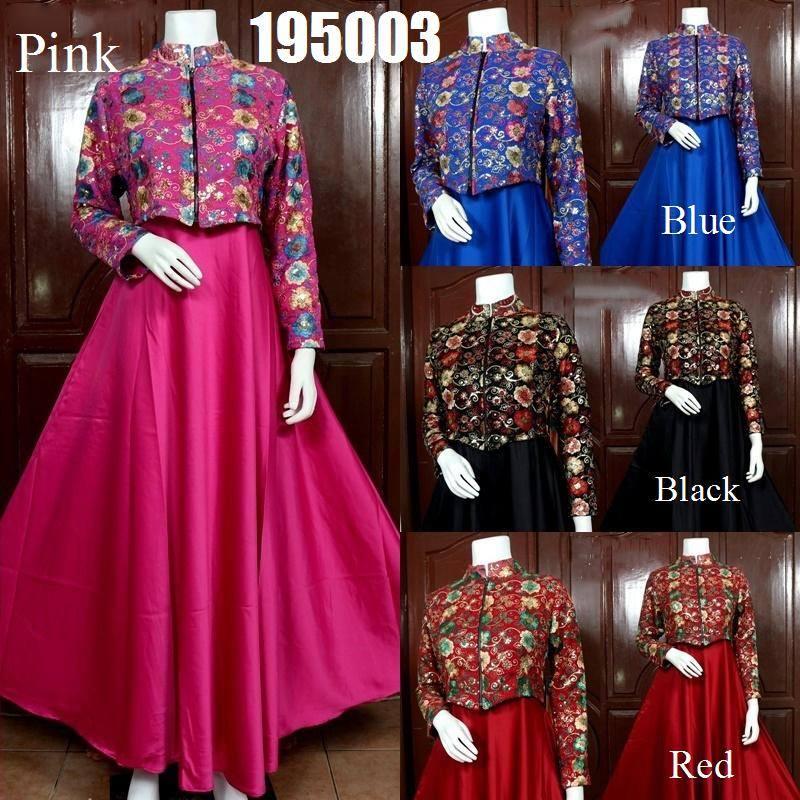 Jual Gamis Rompi Sari India Cantik Dress Set Cardi Mewah Baju