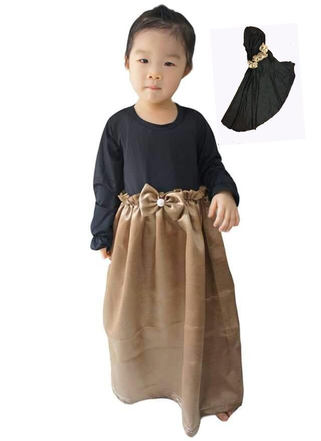 Jual Chloe Babyshop Gamis Hitam Kombinasi Gold F530 Lala Mall