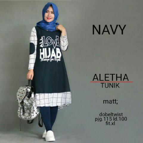 aletha tunik / atasan wanita / baju muslim murah / fashion hijab)
