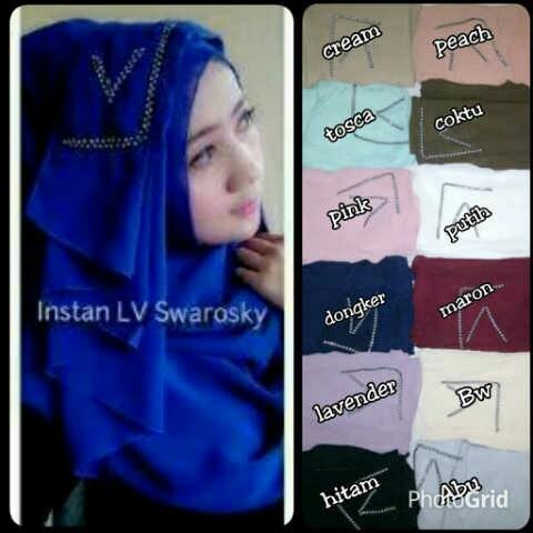 Hijab/Jilbab Instant LV Swarovsky