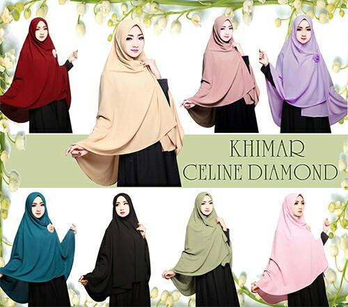 Hijab/Jilbab Khimar Celine Diamond