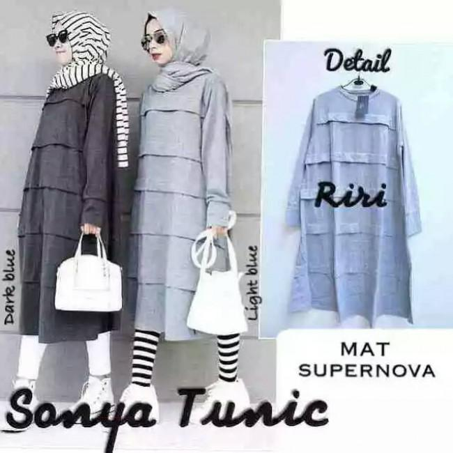 Baju Muslim Hijab Murah Modern Sonya Tunic