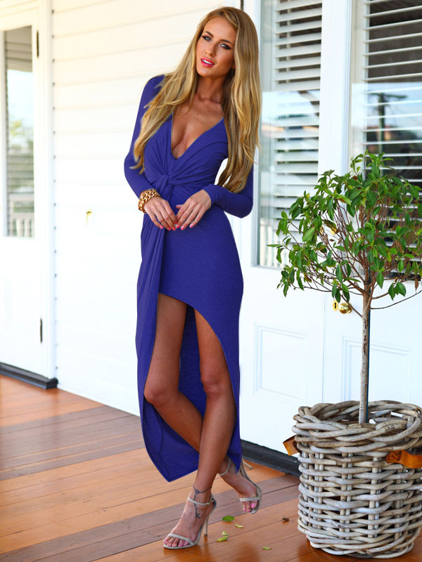 blue long dress - 771805