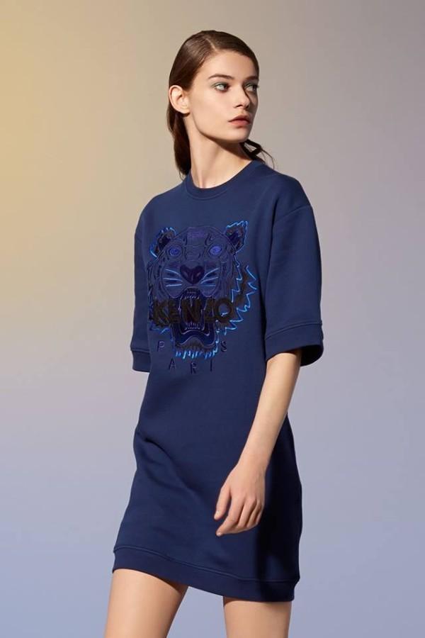 Kenzo Dress (BLUE/BLACK size S,M)-10774