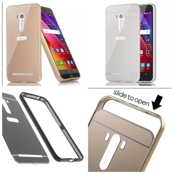 Case For Asus Zenfone Go 45 Inch Bumper Chrome With Mirror Sliding