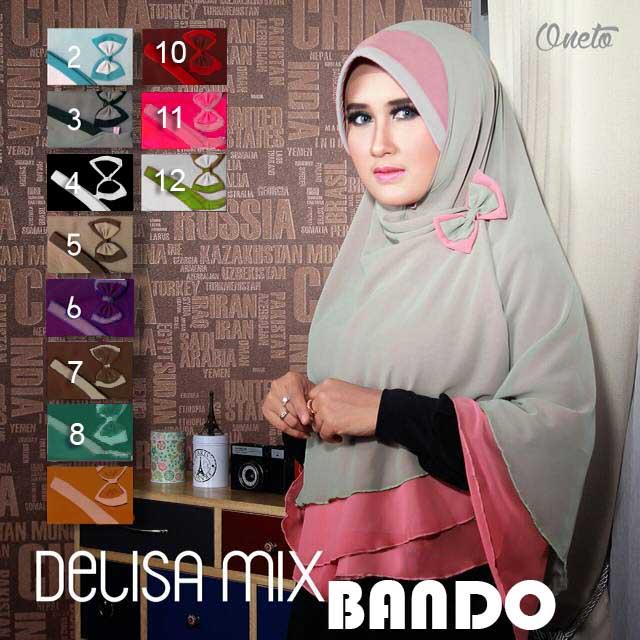 Hijab nikah, hijab pesta, hijab syar'i, jilbab Khimar Delisa Bando
