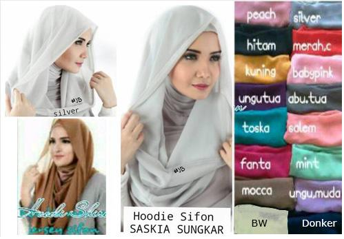 Hijab elegant, Hijab formal, Hijab Grosir, Hijab Instant Hoodie Saskia