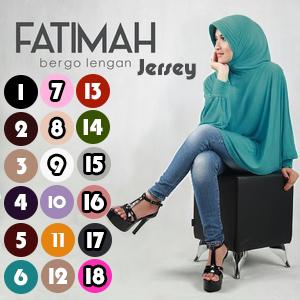 Jilbab, Hijab Keren, Hijab Fatimah, Jilbab Fatimah Bergo Lengan Jersey