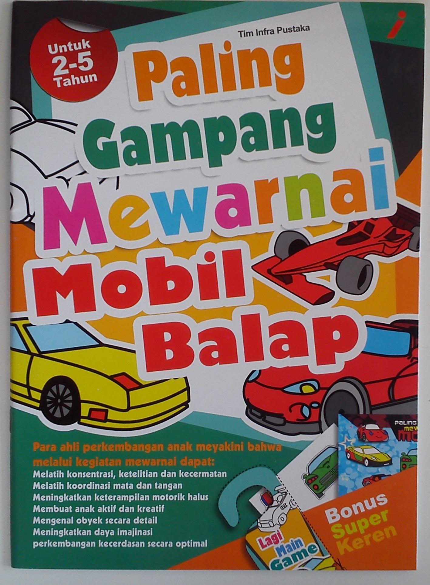 Jual Paling Gampang Mewarnai Mobil Balap Rumah Ferdi Tokopedia