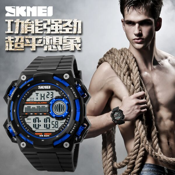 Jam Tangan Pria Original Skmei Digital Anti Air Sporty