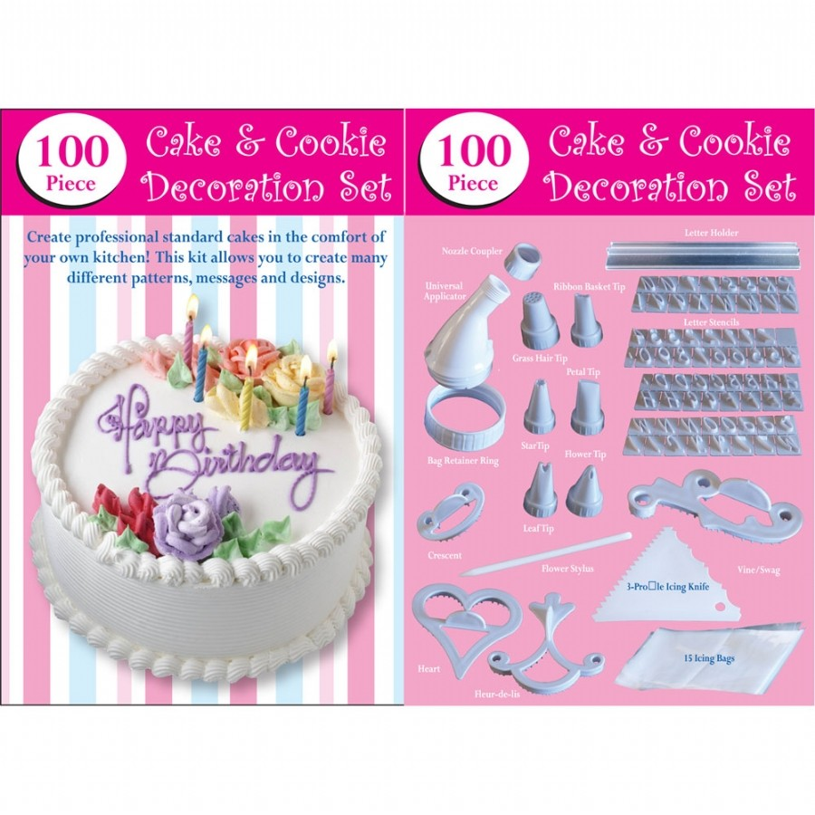 Jual Cake Decorating Kit : Jual 100 Piece Cake Decorating Set Alat Pembuat Penghias ...