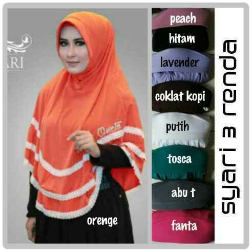 Hijab/Jilbab Syar'i 3 Renda