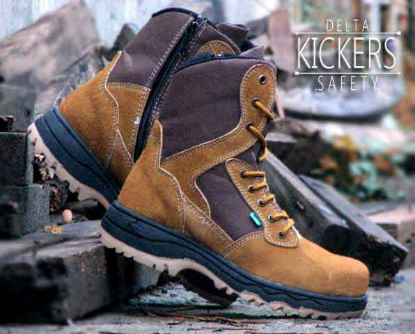 Jual Sepatu Boots Outdoor Kickers Delta Safety High Tan Murah