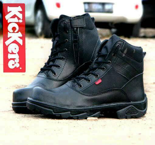 Jual Sepatu Outdoor Kickers Safety Boots Kulit Murah
