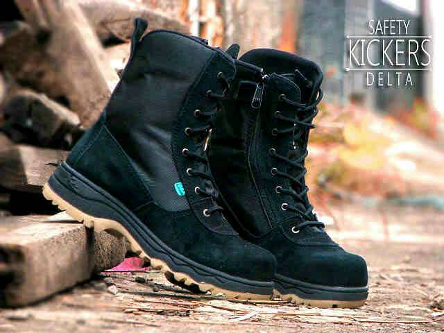 Jual Sepatu Boots Outdoor Kickers Delta Safety Full Hitam Murah