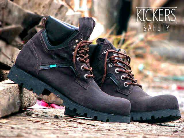 Jual Sepatu Boot Outdor Kickers Safety Kulit / pria touring gunung Mur