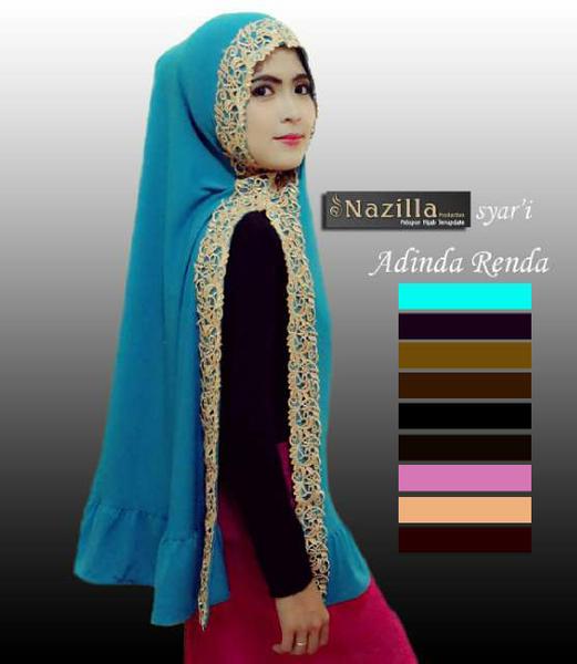 Jual Hijab Jilbab Kerudung KHIMAR ADINDA RENDA