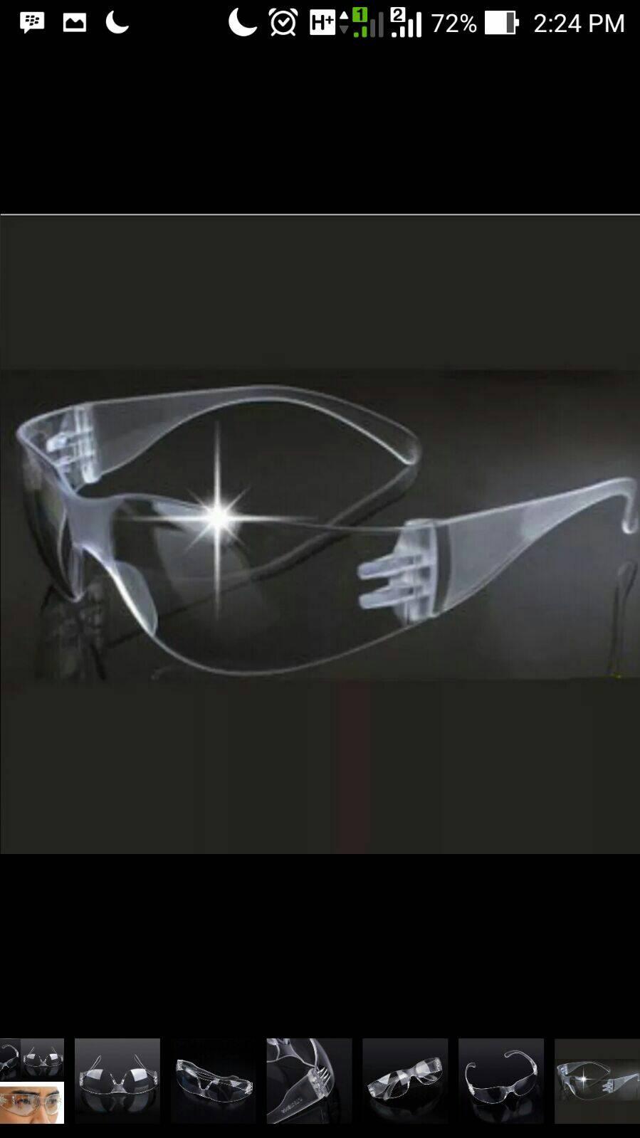 Jual Kaca Mata Pelindung Anti Gores Silau Safety Goggles Car Hd Vision Visor Glasess
