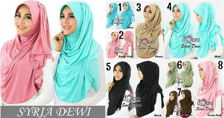 Hijab/Jilbab Syria Dewi 2 in 1